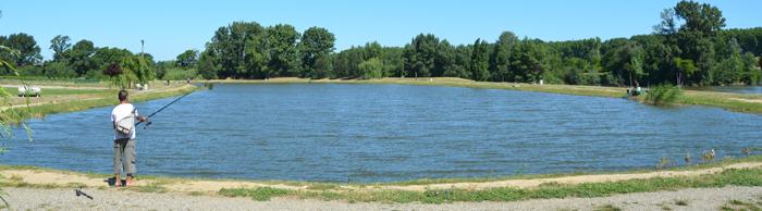 Les places pour la pêche sur léchec
