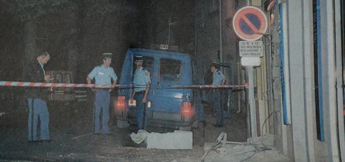 casse-distributeurs de billets Trèbes aout 1998