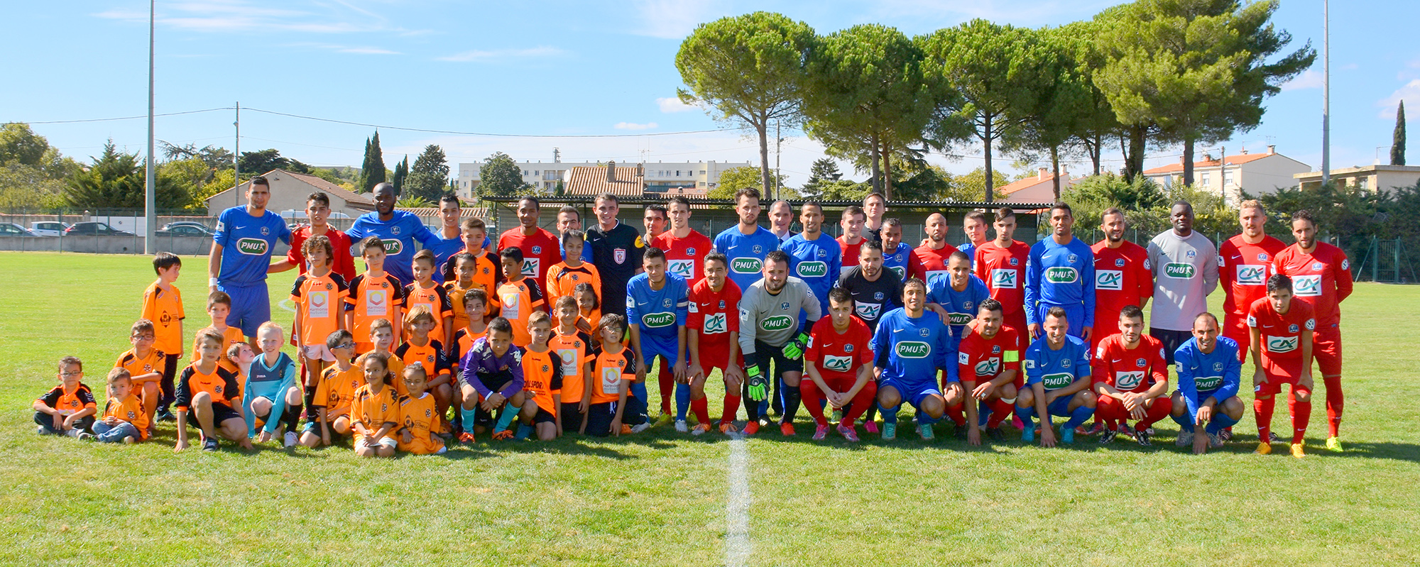 Football coupe de france les tr b ens tombent avec les honneurs a tr bes - Coupe de france 2015 foot ...