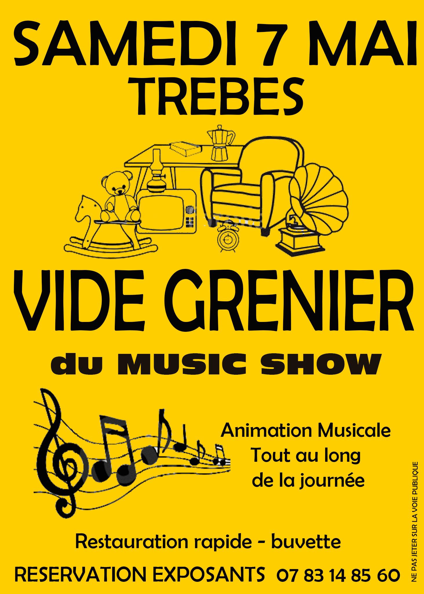 music show vide grenier mai 2016