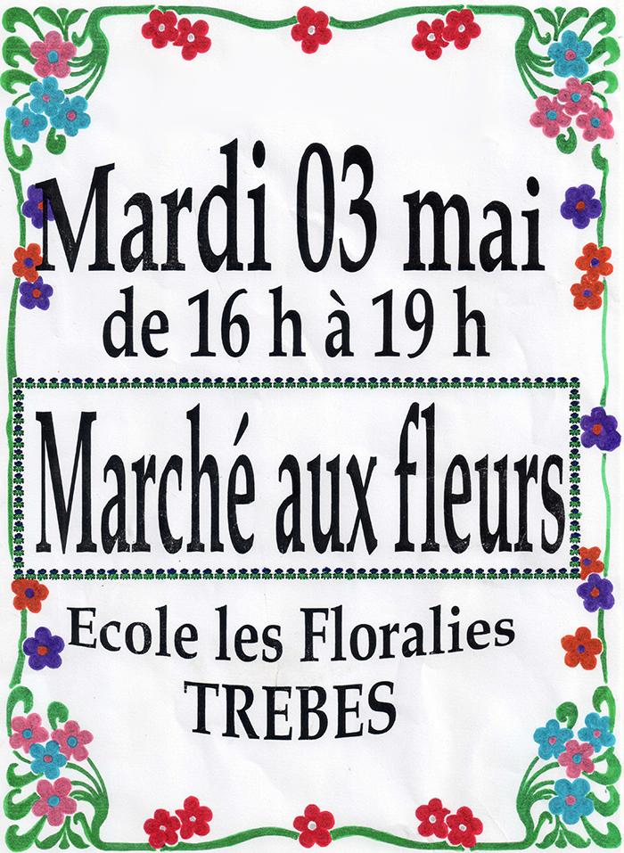 affiche marché aux fleurs flo 2016