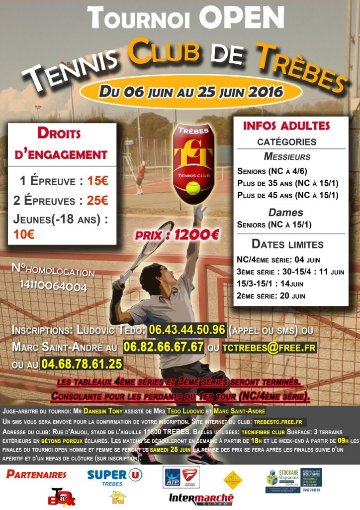 Tennis affiche tournoi-2016