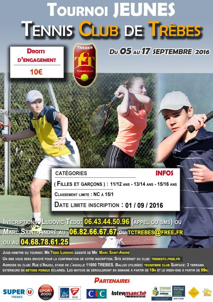 Tennis tournoi jeune