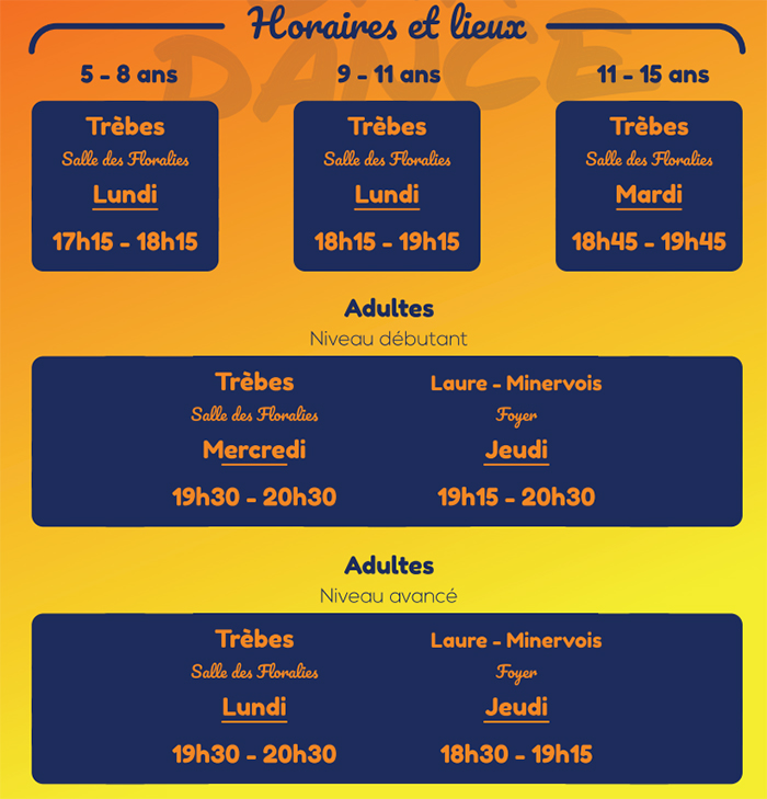 cha-dance horaires)