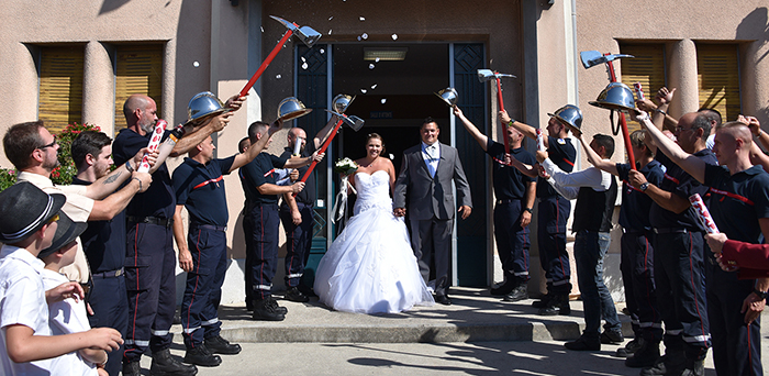 pompier mariage