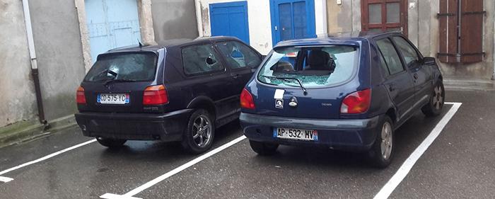 voitures cassées