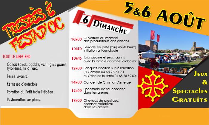 """Résultat de recherche d'images pour """"AFFICHE TREBES FESTA D4OC"""""""