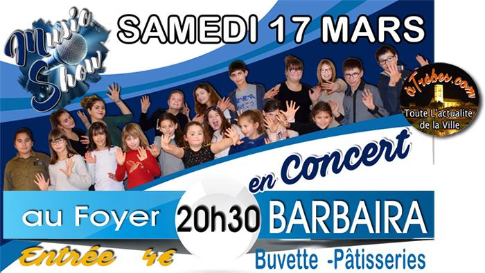 Music show Trèbes concert barbaira