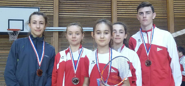 bad jeunes médaillés Trèbes mars 2018