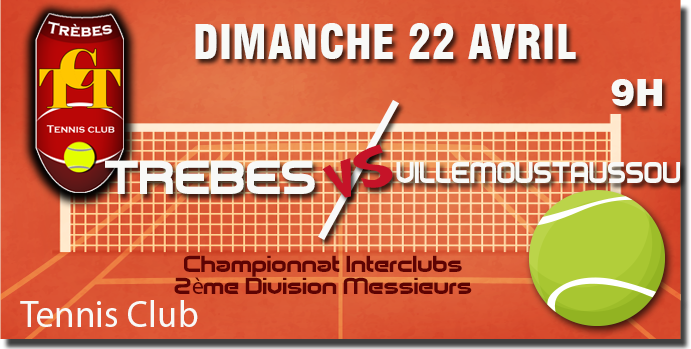 Tennis annonce 22 AVRIL