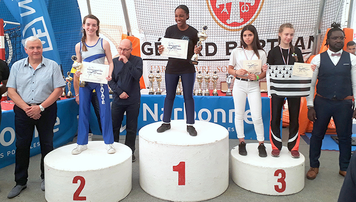 savate trèbes  éva Podium