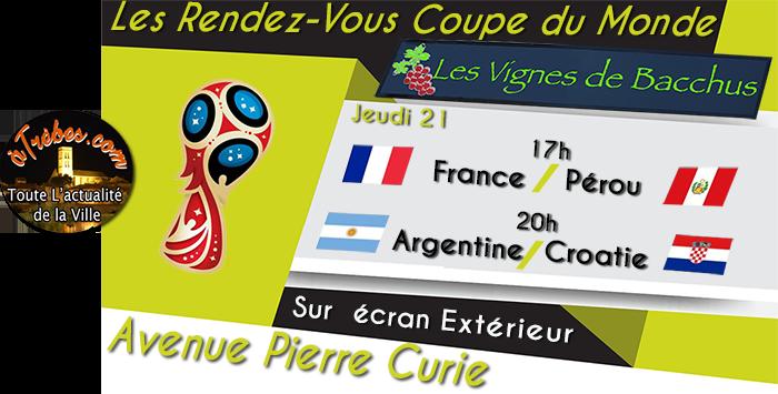 bacchus coupe du monde 2018 21 juin Trèbes