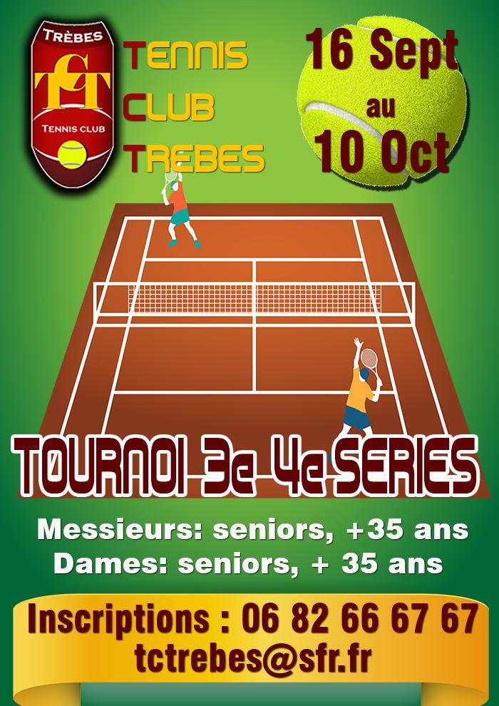 Tennis annonce tournoi sept  2018 Trèbes