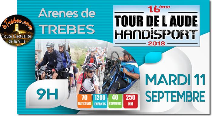 TOUR DE L'AUDE hANDISPORT 2018 TREBES