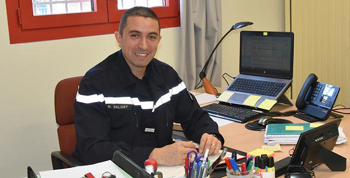 pompier Trèbes Lieutenant Nicolas delort