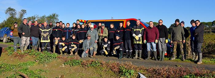 vignerons et pompiers Trèbes1