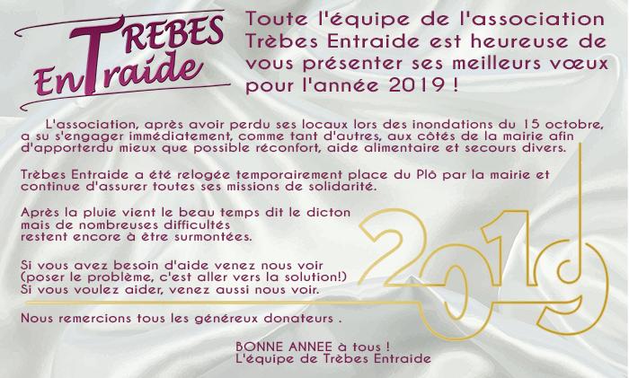voeux Trèbes Entraide 2019