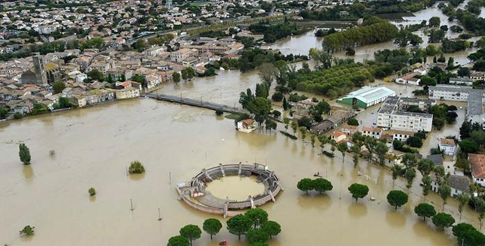 inondation vue aérienne