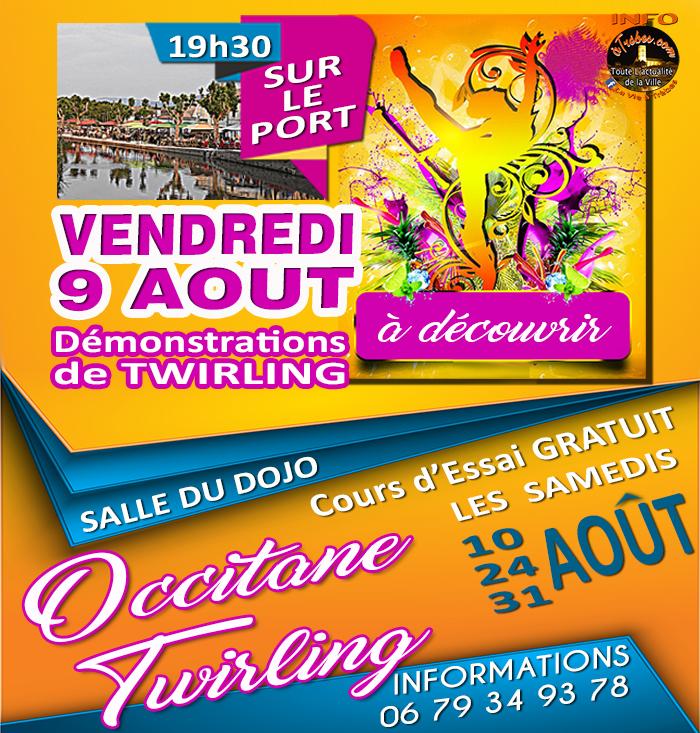 occitane twirling aout 2019 Trèbes