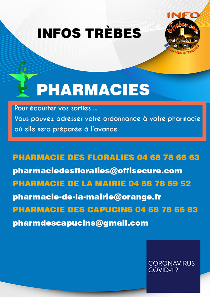 Infos pharmacie