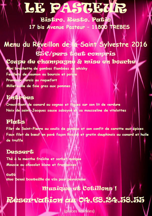 pasteur reveillon menu dec2015