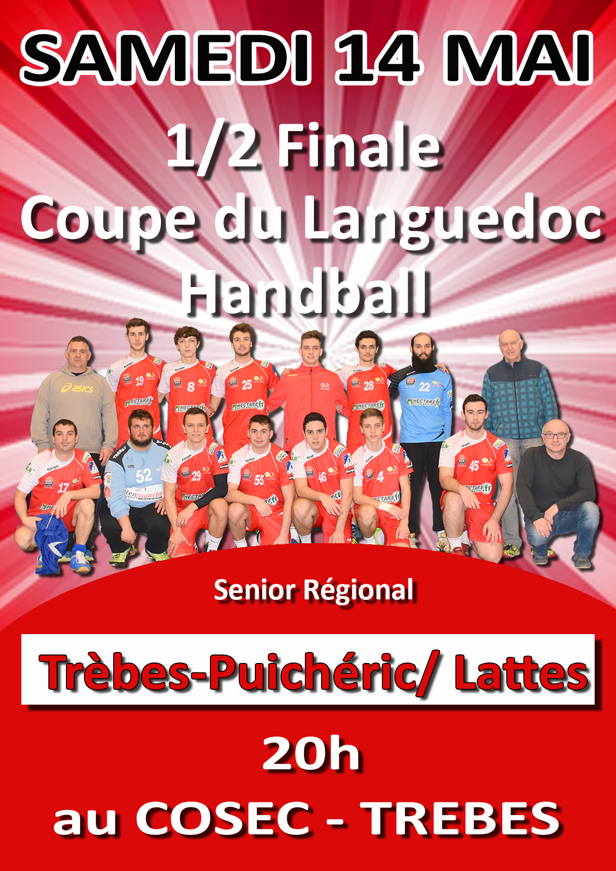 hand affiche 1-2 finale coupe languedoc mai 2016