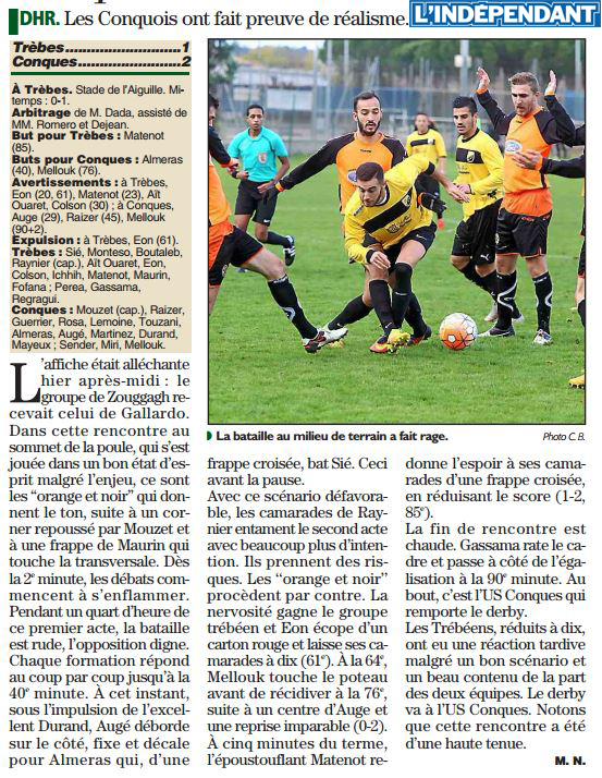 foot  tfc conques nov2016