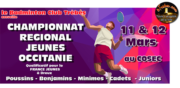 badminton affiche
