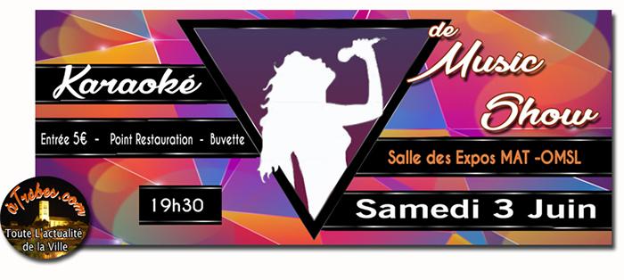 music show karaoké juin trèbes