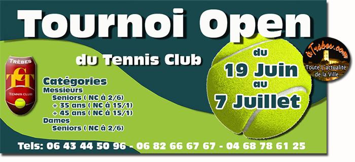 Tennis open  juin2017 Trèbes