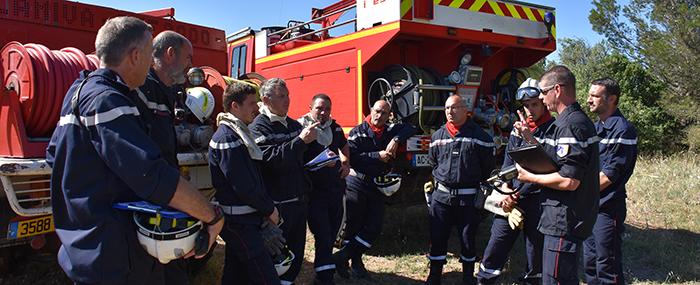 pompiers manoeuvre trèbes