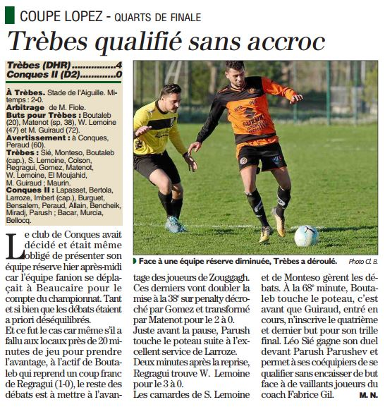 TFC Trèbes - Conques indep