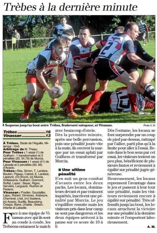 rugby Trèbes Vinassan Indep