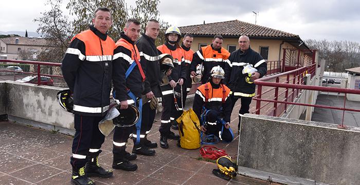 pompiers Trèbes manoeuvre