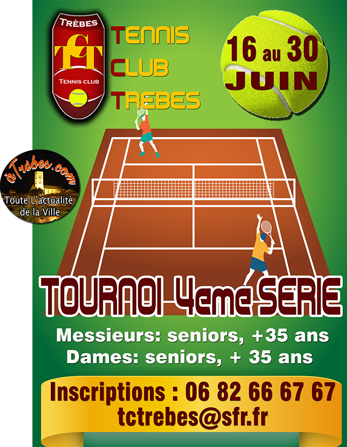 Tennis Trèbes annonce tournoi 2018