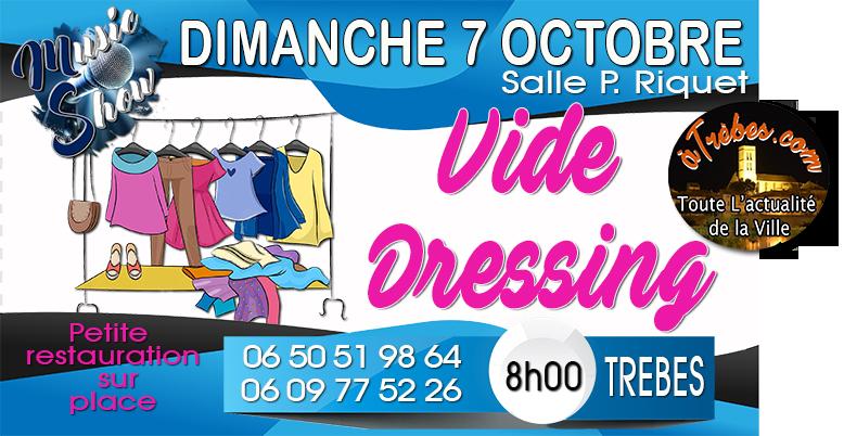 affiche vide dressing Trèbes oct 2018 bandeau