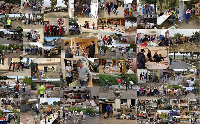 bénévoles inondations Trèbes 2018