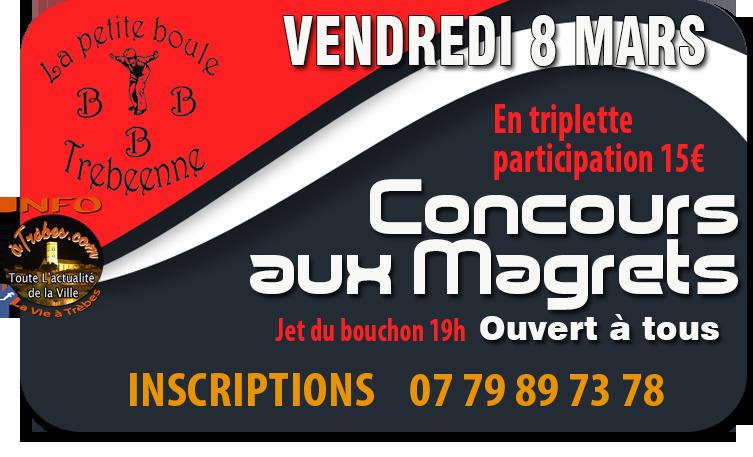 Pétanque  concours magrets 8mars2019