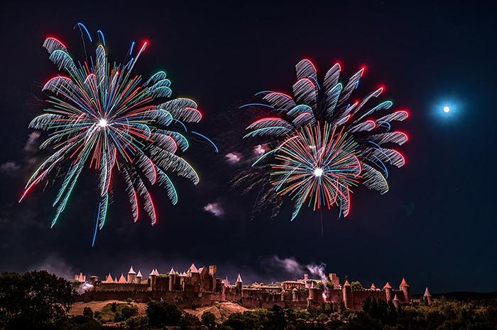 André Lesueur Cité_Carcassonne_Feu_d'Artifice_2019